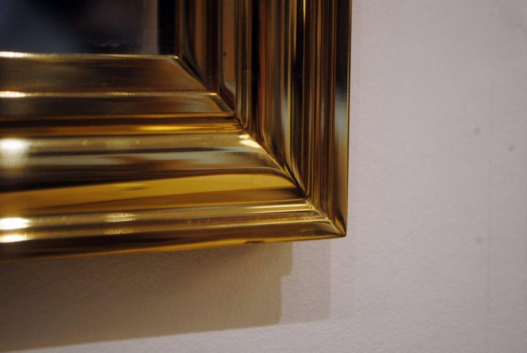 20th Century Pair of Brass Mirrors For Sale