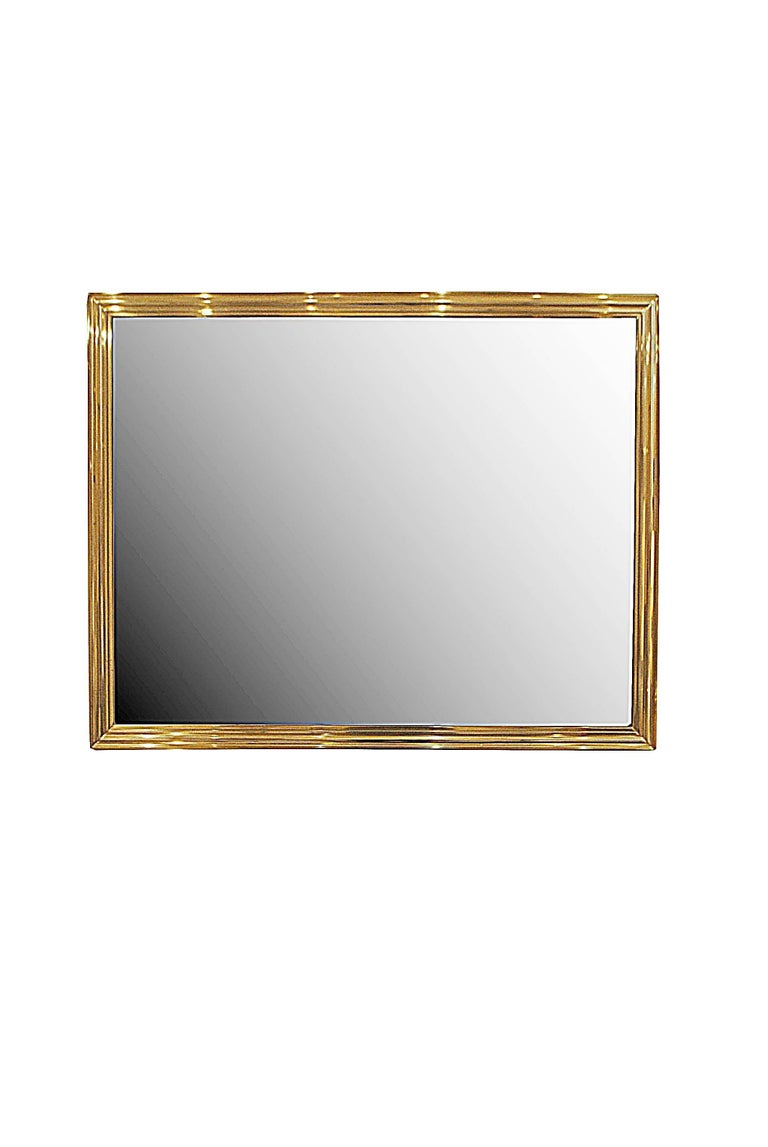 Pair of two brass mirrors.