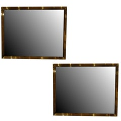 Pair of Brass Mirrors
