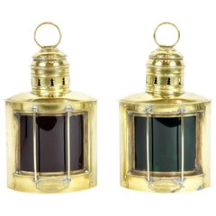 Pair of Brass Nautical Lanterns