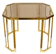 Pair of Brass Octagonal Side Tables