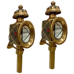 Pair of Brass Outdoor Wall Sconces