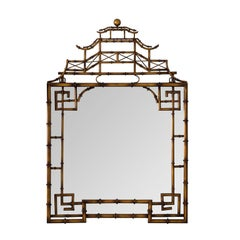 Pair of Brass Pagoda Mirrors