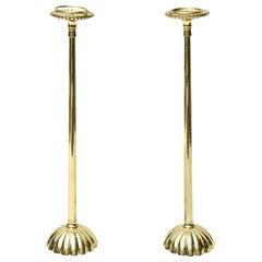 Pair of Brass Regal Candlesticks Vintage