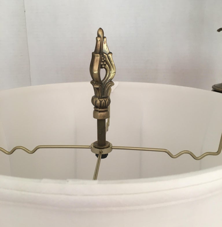 Pair of Brass Rembrandt Table Lamps For Sale 1