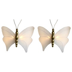 Pair of Brass Sconces Butterfly by Antonio Pavia, Italy, 1970s
