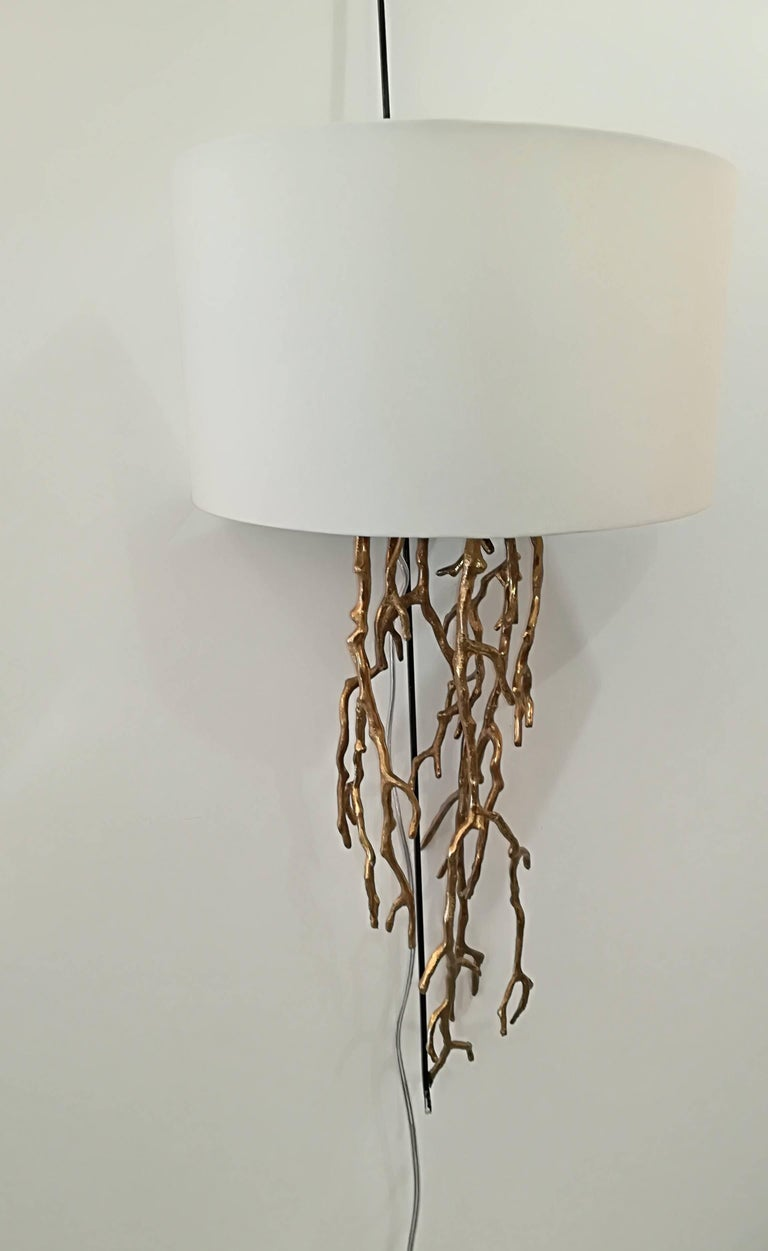 Pair of Brass Sconces Coral Model For Sale 1