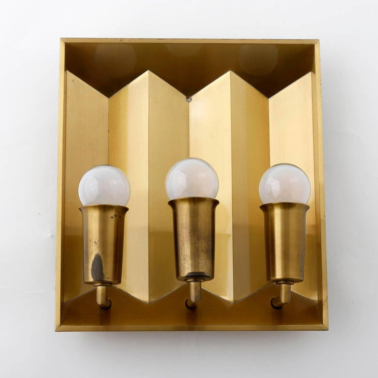 Pair of Brass Sconces Wall Lights by Fog & Morup, Denmark, 1960 In Good Condition For Sale In Vienna, AT