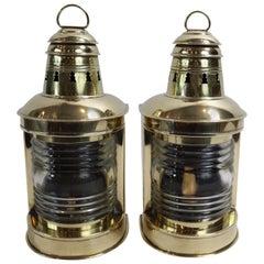 Pair of Brass Ships Masthead Lanterns