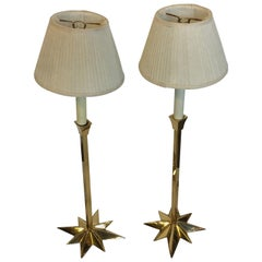 Pair of Brass Side Lamps