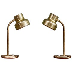 Pair of Brass Table/Desk Lamps Bumling by Anders Pehrson, 1960s
