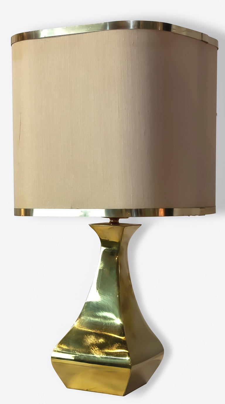 Italian Pair of Brass Table Lamp by Tonello / Montagna Grillo, 1970s For Sale