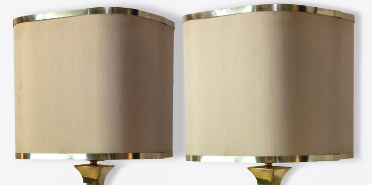 Pair of Brass Table Lamp by Tonello / Montagna Grillo, 1970s In Good Condition For Sale In Roma, IT