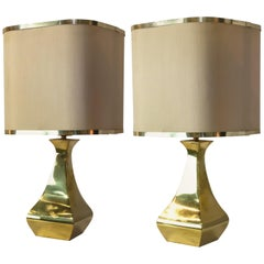 Pair of Brass Table Lamp by Tonello / Montagna Grillo, 1970s