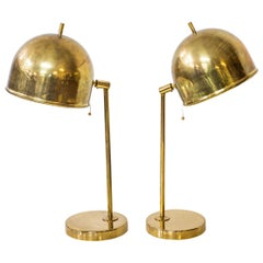 "Pair of Brass Table Lamps ""B-075"" by Bergboms and Eje Ahlgren"