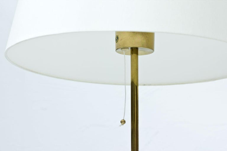 20th Century Pair of Brass Table Lamps by Bergboms, Sweden, 1960s