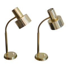 Pair of Brass Table Lamps by Borens