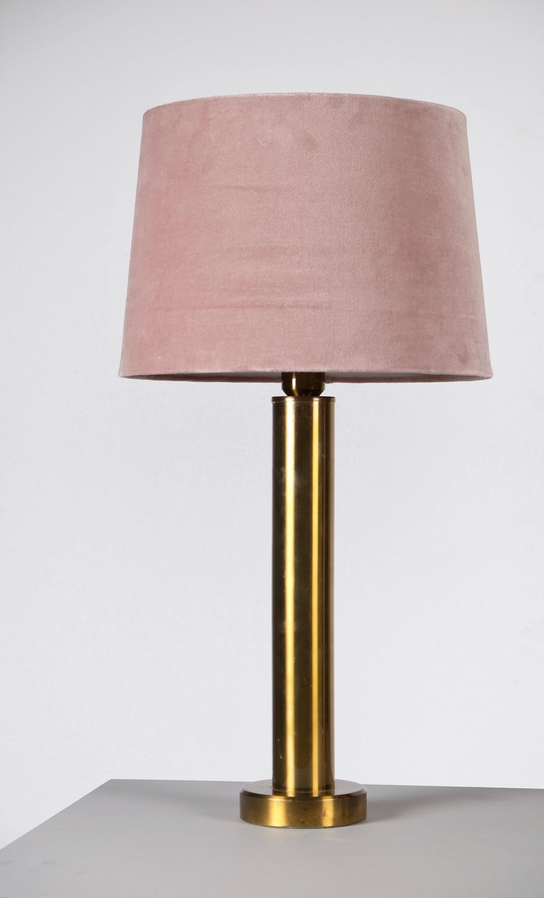 Swedish Pair of Brass Table Lamps by Kosta Belysning, Sweden, 1970s For Sale