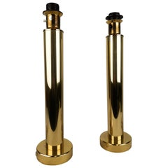 Pair of Brass Table Lamps by Kosta Elarmatur, Sweden, 1960s