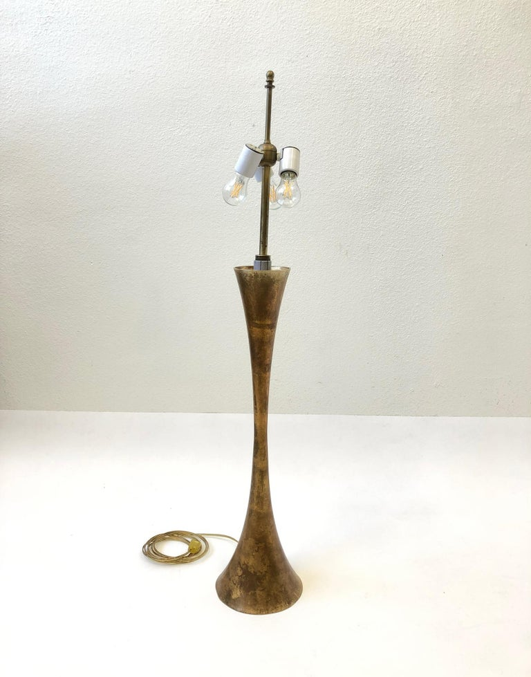 Pair of Brass Table Lamps by Stewart Ross James For Sale 5