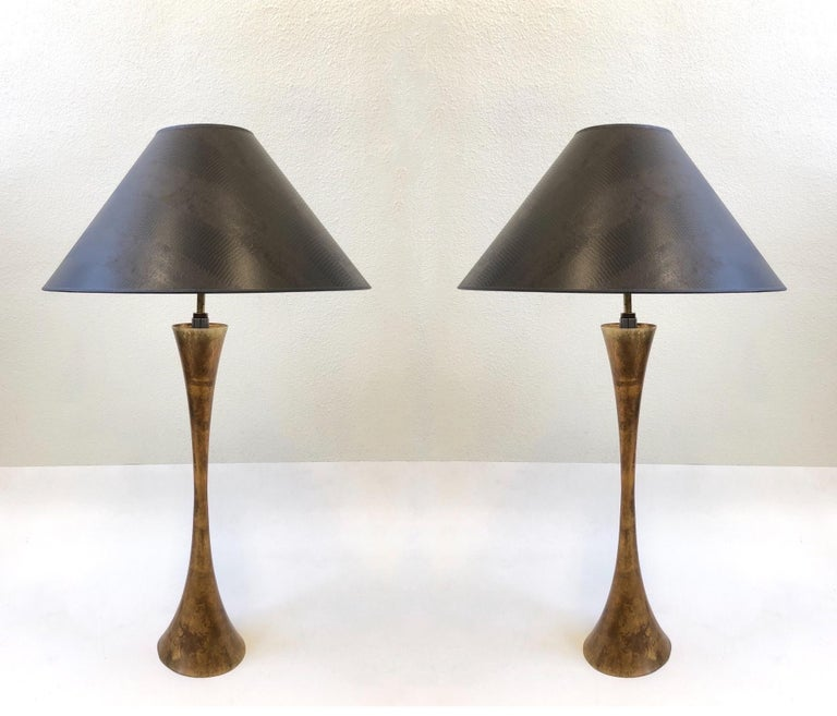 Pair of Brass Table Lamps by Stewart Ross James For Sale 8