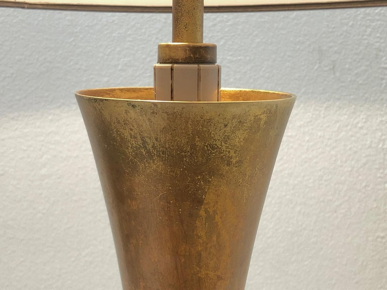 Mid-20th Century Pair of Brass Table Lamps by Stewart Ross James For Sale