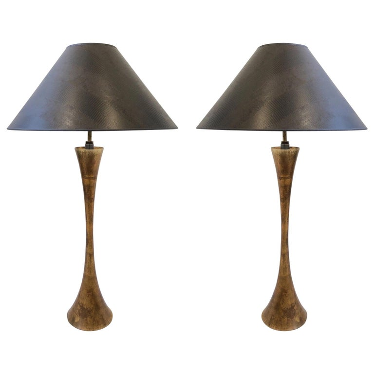Pair of Brass Table Lamps by Stewart Ross James For Sale