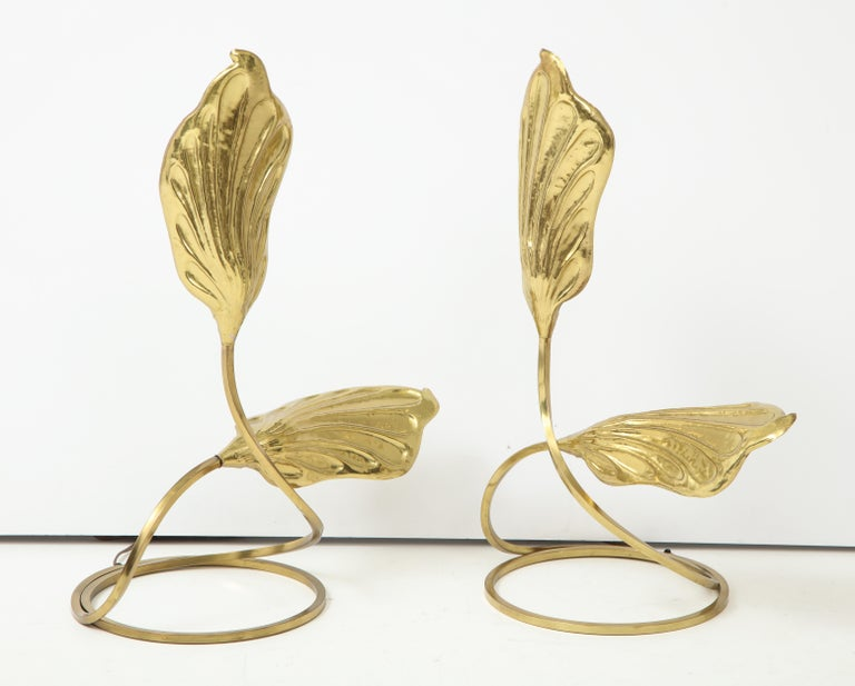 Pair of Brass Table Lamps by Tomasso Barbi For Sale 4