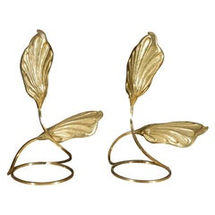 Pair of Brass Table Lamps by Tomasso Barbi