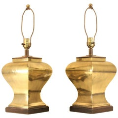 Pair of Brass Table Lamps by Tyndale Lighting