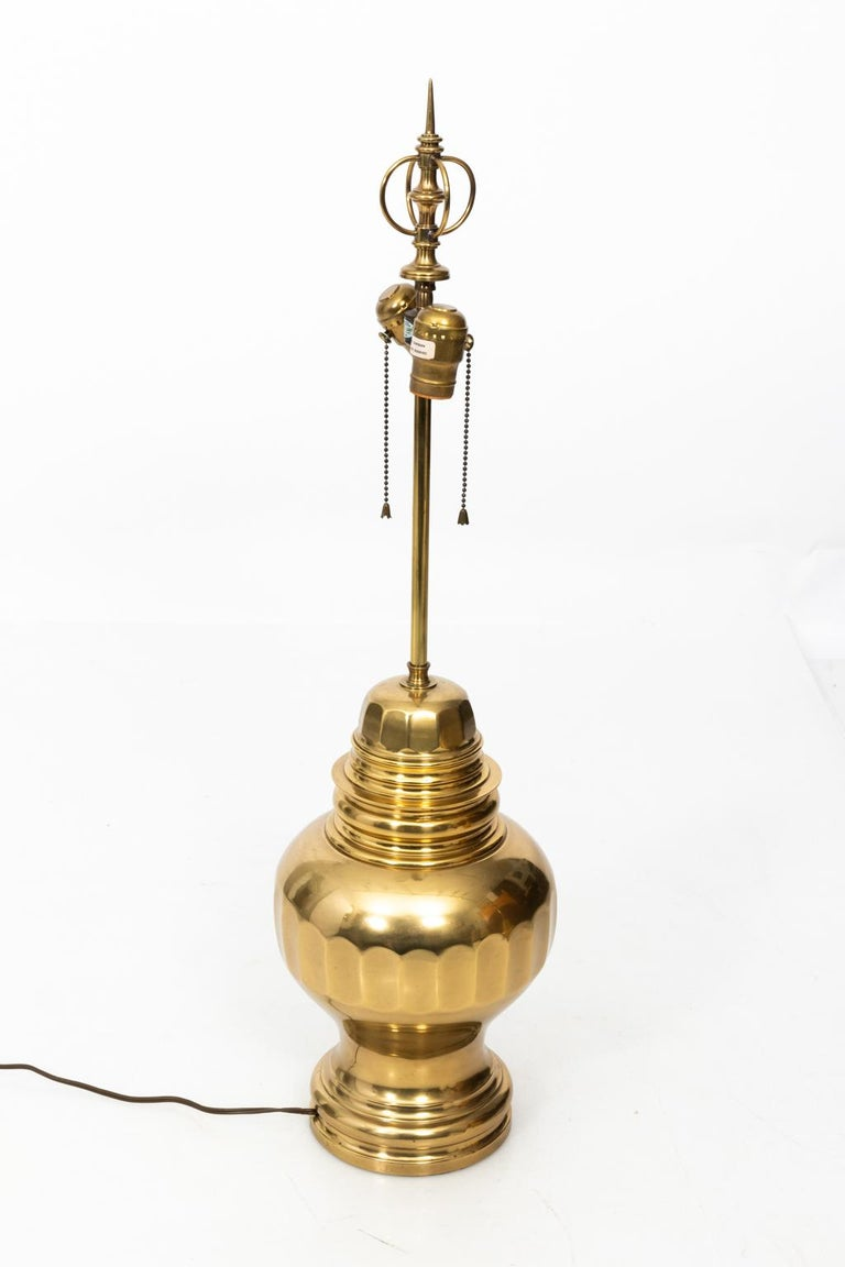 Pair of Brass Table Lamps For Sale 5