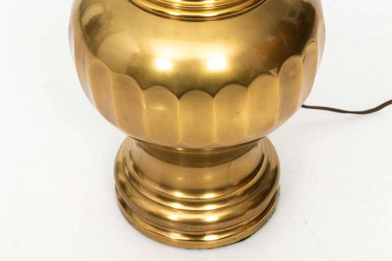 Mid-Century Modern Pair of Brass Table Lamps For Sale