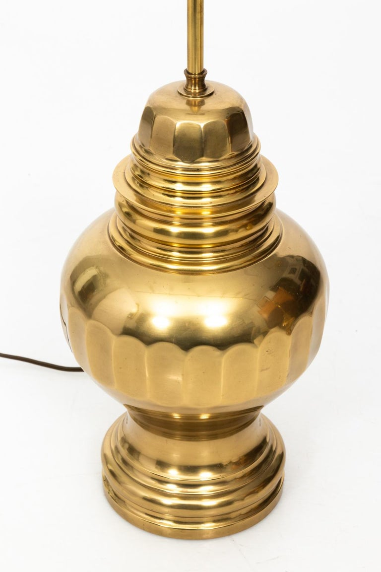 Pair of Brass Table Lamps For Sale 4