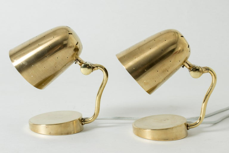 Pair of Brass Table Lamps from Boréns, Sweden, 1950s In Good Condition For Sale In Stockholm, SE