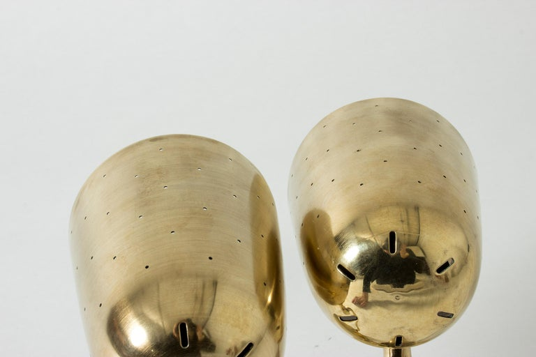 Pair of Brass Table Lamps from Boréns, Sweden, 1950s For Sale 1