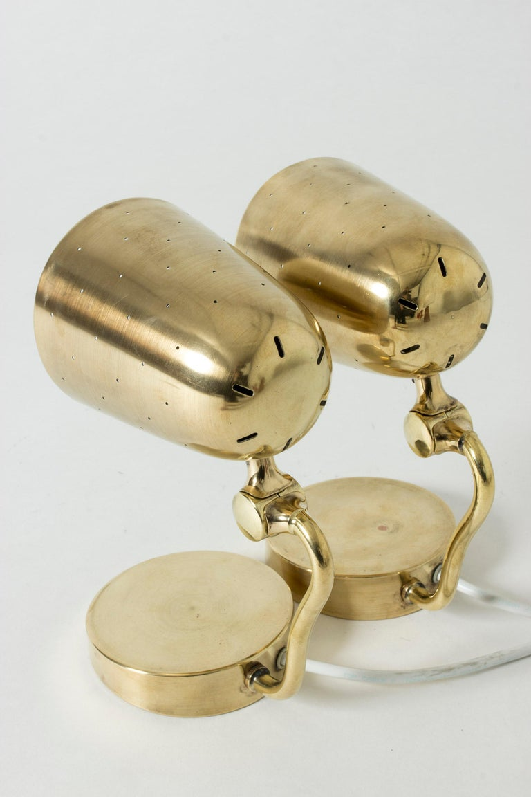Pair of Brass Table Lamps from Boréns, Sweden, 1950s For Sale 2