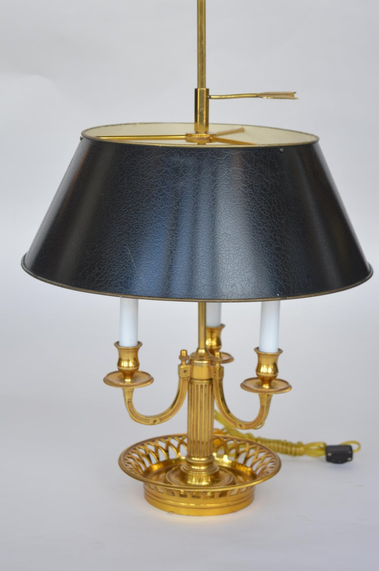 Pair of Brass Tole Table Lamps For Sale 1