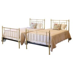 Pair of Brass Twin Antique Beds, MPS30