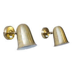 Pair of Brass Wall Lamps by Boréns, Sweden, 1960s