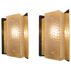 Pair of Brass Wall Sconces by Falkenderg, Sweden