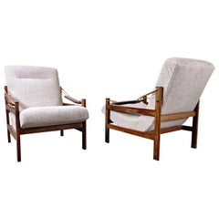 Pair of  Mid-Century Brazilian Armchairs in Style of Sergio Rodrigues, 1960s