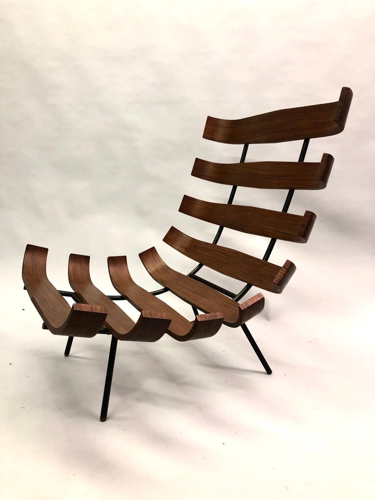 Pair of Brazilian 'Costela' Lounge Chairs by Carlo Hauner & Martin Eisler, 1954 For Sale 4