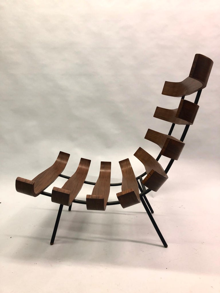 Pair of Brazilian 'Costela' Lounge Chairs by Carlo Hauner & Martin Eisler, 1954 For Sale 5