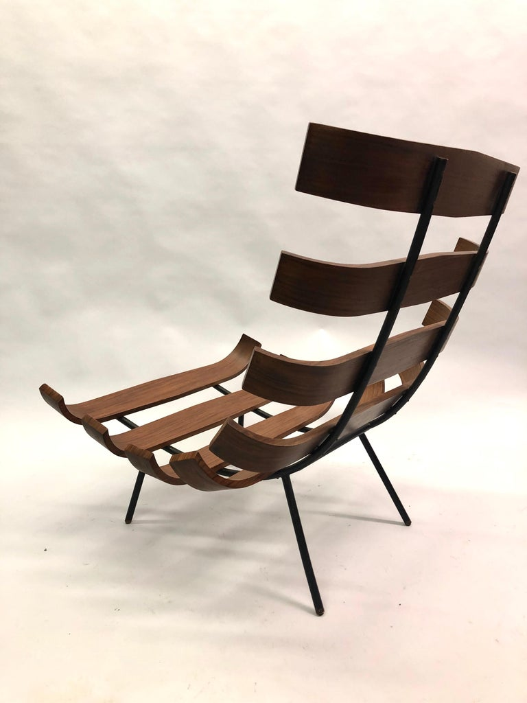 Pair of Brazilian 'Costela' Lounge Chairs by Carlo Hauner & Martin Eisler, 1954 For Sale 6