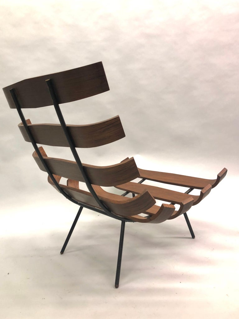 Pair of Brazilian 'Costela' Lounge Chairs by Carlo Hauner & Martin Eisler, 1954 For Sale 7