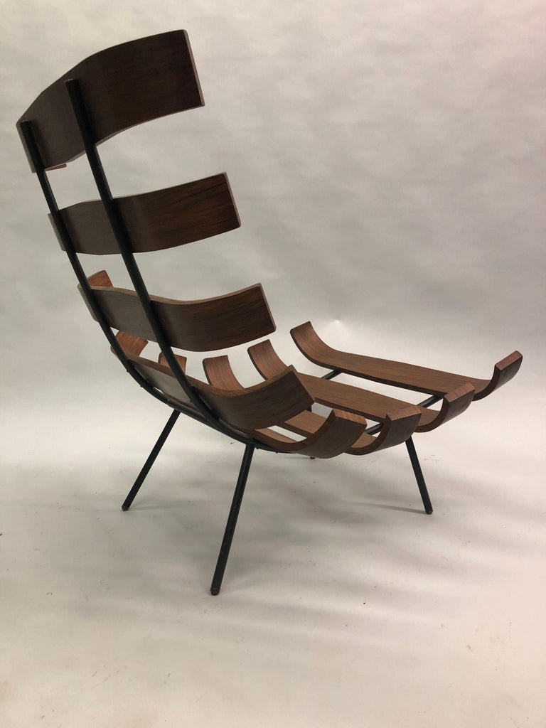 Pair of Brazilian 'Costela' Lounge Chairs by Carlo Hauner & Martin Eisler, 1954 For Sale 8