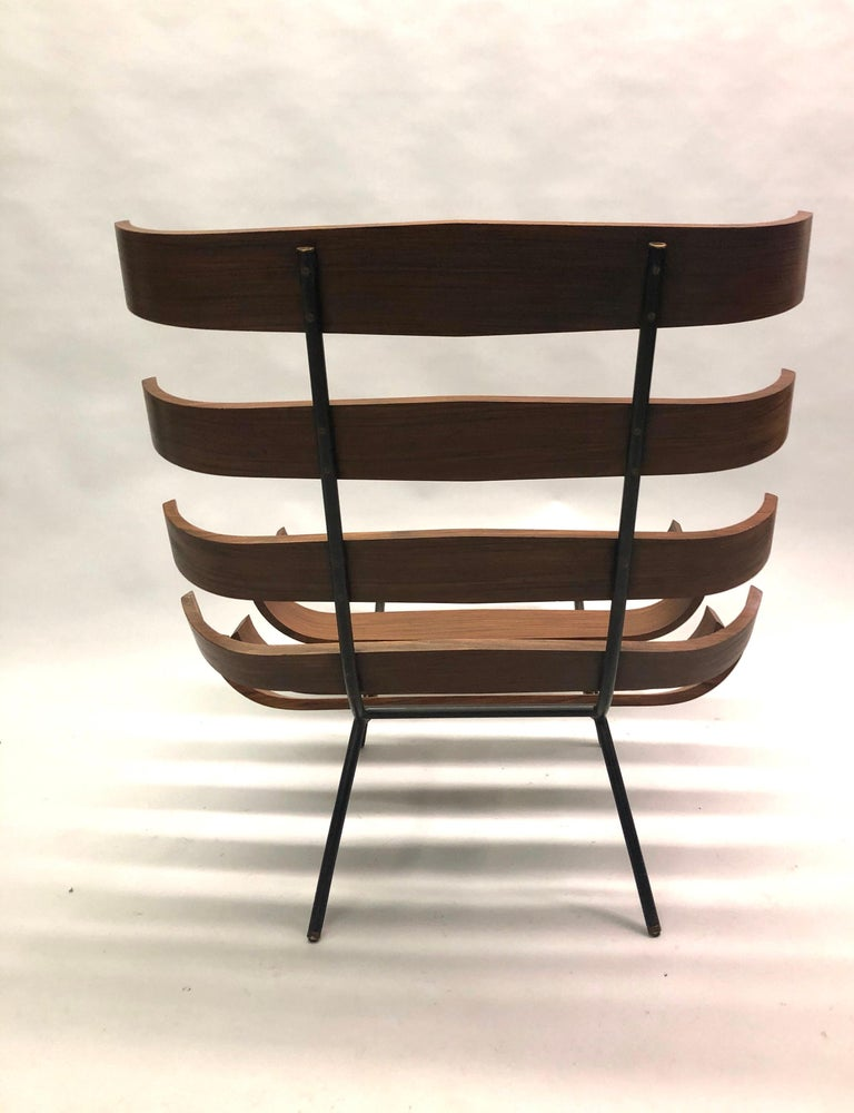 Pair of Brazilian 'Costela' Lounge Chairs by Carlo Hauner & Martin Eisler, 1954 For Sale 9