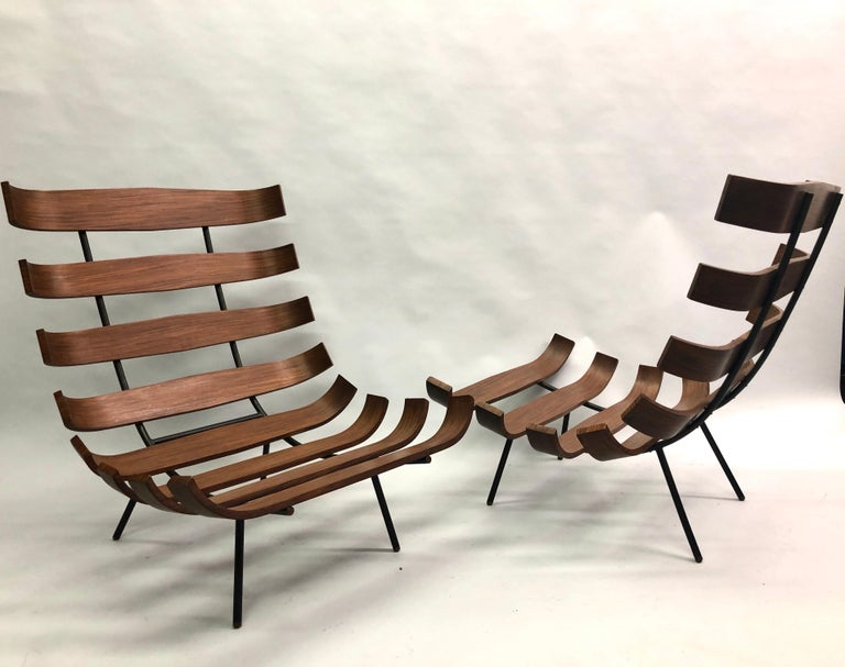 Pair of Brazilian 'Costela' Lounge Chairs by Carlo Hauner & Martin Eisler, 1954 In Good Condition For Sale In New York, NY