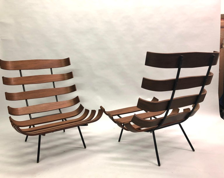 20th Century Pair of Brazilian 'Costela' Lounge Chairs by Carlo Hauner & Martin Eisler, 1954 For Sale