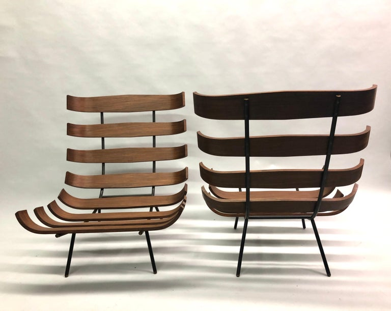 Pair of Brazilian 'Costela' Lounge Chairs by Carlo Hauner & Martin Eisler, 1954 For Sale 1